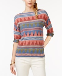 American Living Printed Sweater Only At Macy's
