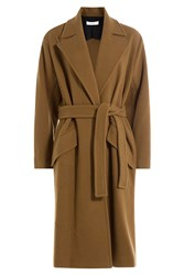 Iro Belted Coat With Wool Brown