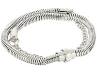 French Connection Chain Mix Double Wrap Bracelet Silver Bracelet
