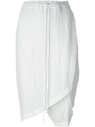 Lost And Found Skirt Cropped Trousers White