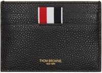 Thom Browne Black Single Card Holder