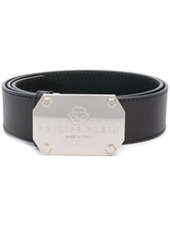 Philipp Plein Engraved Logo Belt Black