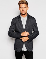 Esprit Check Blazer In Slim Fit Grey