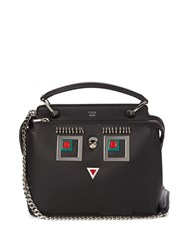 Fendi Dotcom Small Square Eyes Leather Cross Body Bag