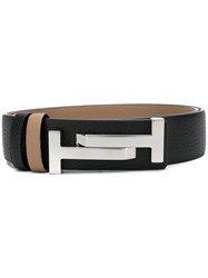 Tod's Double T Buckle Belt Black