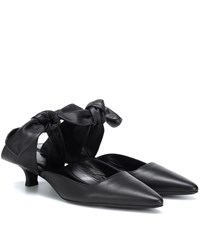 The Row Coco Leather Mules Black