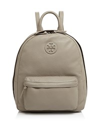 Tory Burch Leather Backpack French Gray
