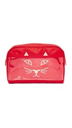 Charlotte Olympia Purrrfect Wash Bag Red