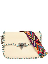 Valentino Rockstud Rolling Bag W Embroidered Strap