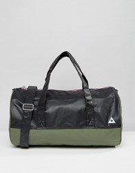 Le Coq Sportif Khaki Weekend Barrel Bag Four Leaf Clover Multi