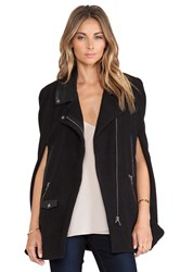 Lovers Friends Devon Moto Cape Black