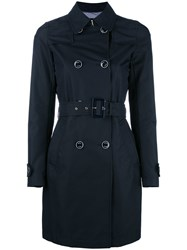 Herno Belted Trench Coat Blue