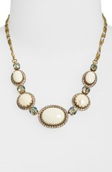 Sorrelli Oval And Round Station Collar Necklace Beige