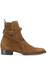 Marc Ellis Side Buckle Ankle Boots Brown