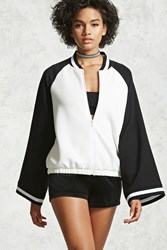 Forever 21 Contemporary Kimono Jacket Black White