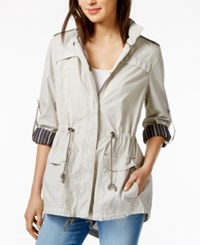 Tommy Hilfiger Cotton Utility Jacket Only At Macy's Pumice