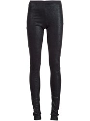 Rick Owens Panelled Leggings Black