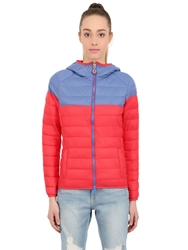 Invicta Quilted Nylon Puffer Jacket Red Blue