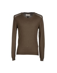 Eleven Paris Knitwear Jumpers Men Military Green