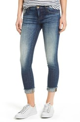 Kut From The Kloth Women's Fray Cuff Straight Leg Jeans