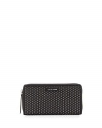 Cole Haan Benson Woven Leather Wallet Black Gray