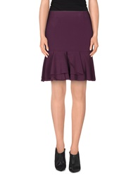 Gold Case Knee Length Skirts Deep Purple