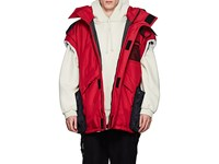 Vetements Convertible Oversized Parka Duffel Bag Red