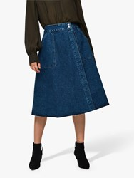 Selected Femme Hanna Denim Skirt Medium Blue