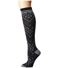 Smartwool Lingering Lace Knee Highs Charcoal Heather Women's Knee High Socks Shoes Gray