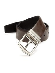 Burberry Reversible Leather Belt Chocolate