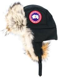 Canada Goose Aviator Hat Cotton Feather Down Nylon Polyester Black