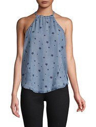 Saks Fifth Avenue Red Cecella Star Top Blue