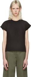 Alexander Wang T By Black Cap Sleeve Pullover
