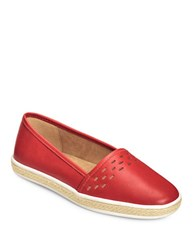 Aerosoles Fun Times Leather Flats Red