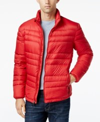 32 Degrees Men's Packable Down Jacket Red Revival