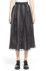 Women's Jupe By Jackie 'Nakura' Embroidered Silk Organza Midi Skirt