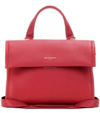 Balenciaga Tool Satchel Small Leather Tote Bag Red