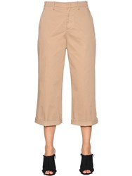 N 21 Stretch Cotton Gabardine Cropped Pants