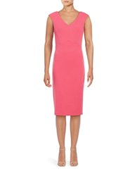 Ivanka Trump Crepe Sheath Dress Medium Pink
