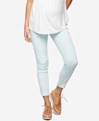 A Pea In The Pod Maternity Ankle Skinny Jeans Teal Denim Wash