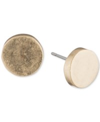 Dkny Silver Tone Circle Stud Earrings Created For Macy's Gold