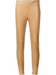 Ralph Lauren 'Eleanora' Skinny Stretch Trousers Nude And Neutrals