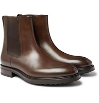Tom Ford Stuart Polished Leather Chelsea Boots Brown