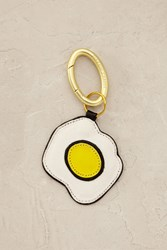 Anthropologie Sunny Side Up Keychain White