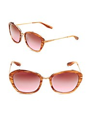 Barton Perreira 54Mm Striped Sunglasses Pink