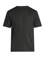 Alexander Wang Short Sleeved Wool Jersey T Shirt Charcoal