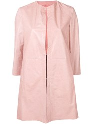 Drome Leather Overcoat Pink