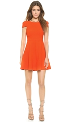 4.Collective Matelasse Cap Sleeve Flirty Dress Spicy Orange