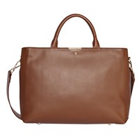 Modalu Bess Leather Large Tote Bag Walnut