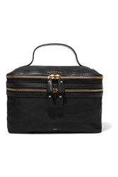 Anya Hindmarch Vanity Kit Leather Trimmed Cosmetics Case Black
